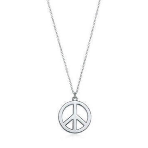 1a6467696 Tiffany & Co. Jewelry | Tiffany Co Silver Peace Sign Pendant ...
